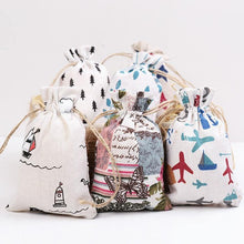 Load image into Gallery viewer, Printed Jute Cosmetic Bags - Les Value