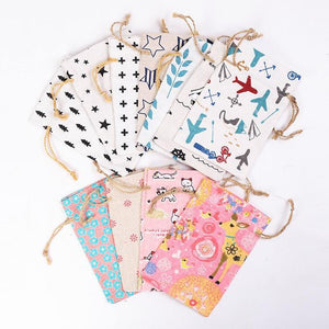 Printed Jute Cosmetic Bags - Les Value
