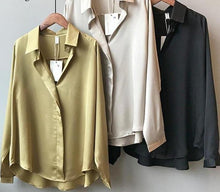 Load image into Gallery viewer, Women Satin shirts - Les Value