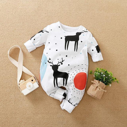 Newborn Baby Boy Deer Romper Jumpsuits