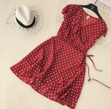 Load image into Gallery viewer, Ruffles Polka Dot Dress - Les Value