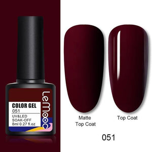 LEMOOC Nail Gel Polish Autumn Winter Color
