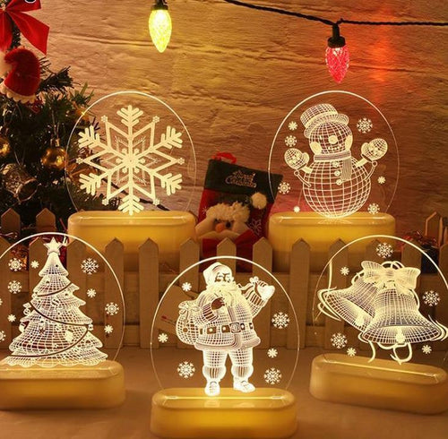 Merry Christmas 3d lamps - Les Value