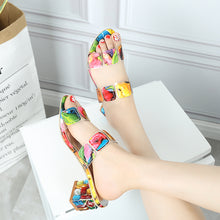 Load image into Gallery viewer, Multi Colors High Heel Sandal