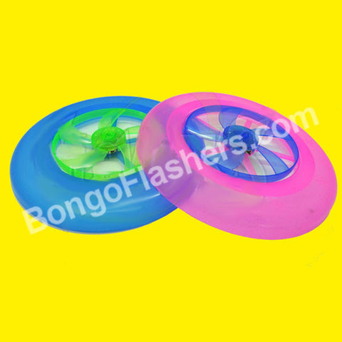 "8"" Flashing Spinning Blade Frisbee - Asst. Colors (1 PIECE)"