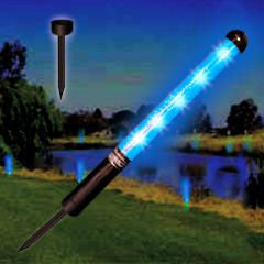 "12"" LED Blue Yardage Marker With Spike"