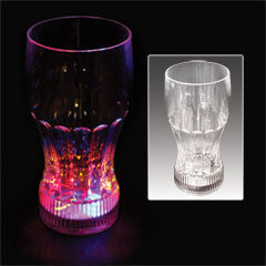 12 oz Flashing LED Drink Glass