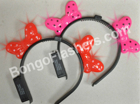 Assorted Bowtie Head Band with Two Bows (1 piece)