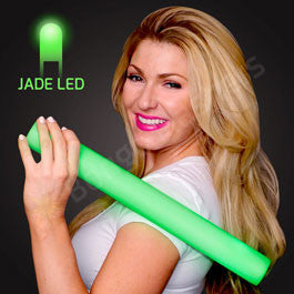 "16"" FOAM GREEN LED CHEER STICKS"