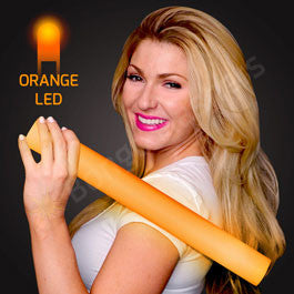 "16"" FOAM ORANGE LED CHEER STICKS"