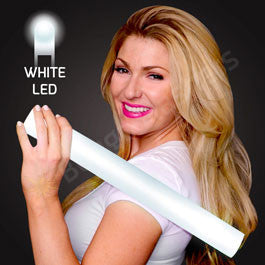 "16"" FOAM WHITE LED CHEER STICKS"