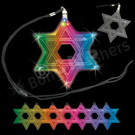 Color Changing Star of David LED Necklace