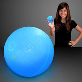 "2.5"" BLUE AIR BOUNCE BALLS WITH FLASHING LEDS"