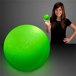 "2.5"" GREEN AIR BOUNCE BALLS WITH FLASHING LEDS"