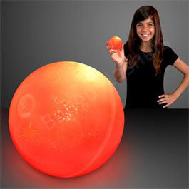 "2.5"" RED AIR BOUNCE BALLS WITH FLASHING LEDS"