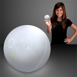 "2.5"" WHITE AIR BOUNCE BALLS WITH FLASHING LEDS"