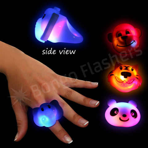 Assorted Wild Animal LED Jelly Rings