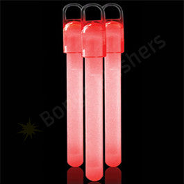 6 Inch Standard Glow Sticks - Red