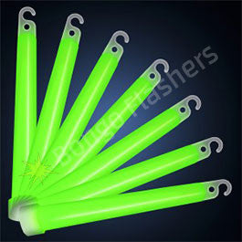 6 INCH GREEN GLOW STICKS