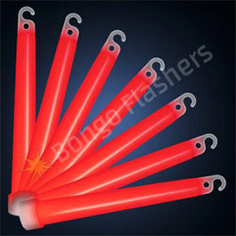 6 INCH RED GLOW STICKS