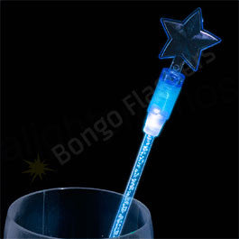 "9"" BLUE STAR SHAPED LED DRINK STIRRERS"