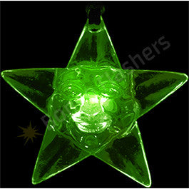 ACRYLIC CHRISTMAS STAR FLASHING NECKLACE