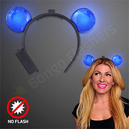 BLUE LIGHT UP LED MOUSE EARS