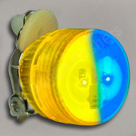 BLUE / YELLOW BLINKING LED CLIP ON PINS