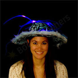 Blue LED Show Daddy Noodle Hat
