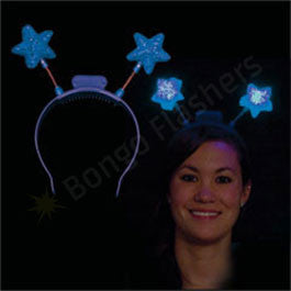 Blue LED Star Head Boppers