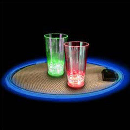 Blue Light Up Serving Tray