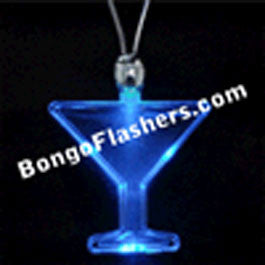 Blue Martini LED Acrylic Necklaces