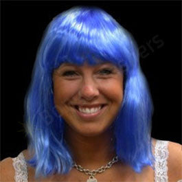 Blue Neon Wig - Non Flashing