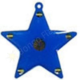 Blue Star Flashing Body Light Pin