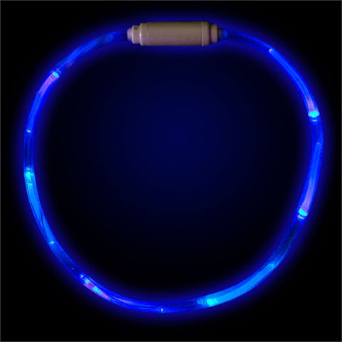 "Blue 27"" LED Fiber Optic Necklace"