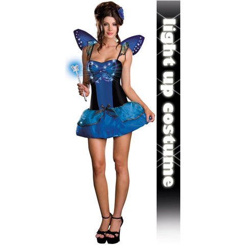 Blue Butterfly Beauty (Light Up) Adult Costume
