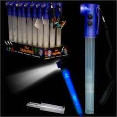 Blue LED Whistle Safety Stick