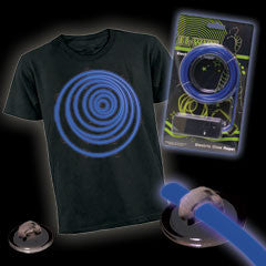 Blue Lumilite Tron Costume Kit