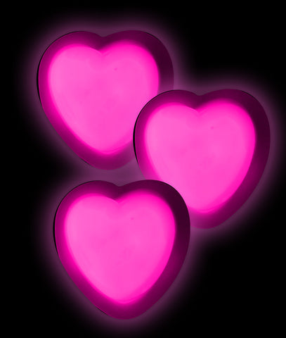 Glow Badge Heart - Pink
