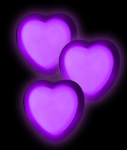 Glow Badge Heart - Purple