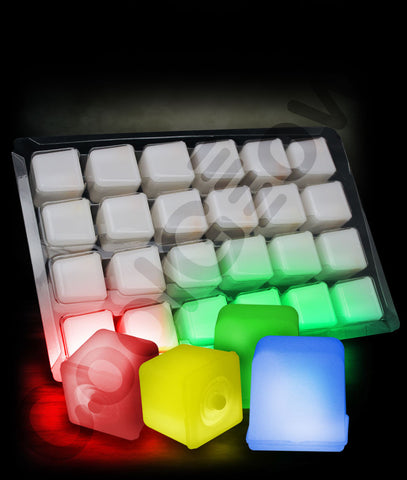 24 Pack Glowing Ice Cubes - Assorted