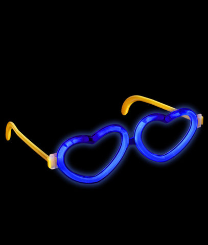 Glow Heart Eyeglasses - Blue