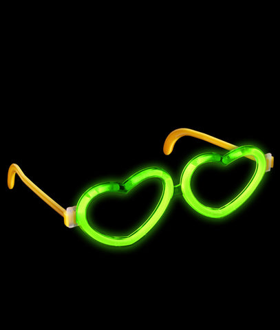 Glow Heart Eyeglasses - Green