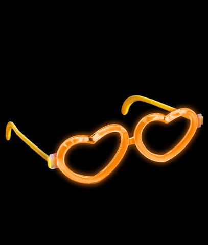 Glow Heart Eyeglasses - Orange