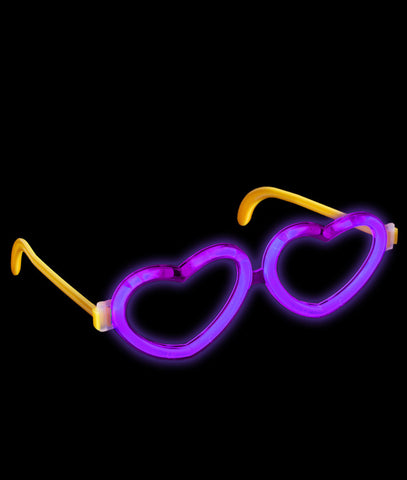 Glow Heart Eyeglasses - Purple