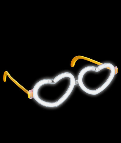 Glow Heart Eyeglasses - White