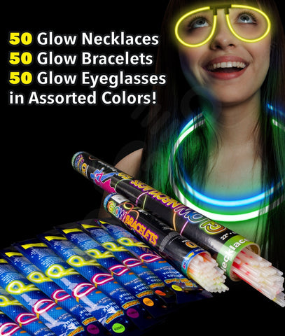 Glow Party Pack for 50 - Assorted