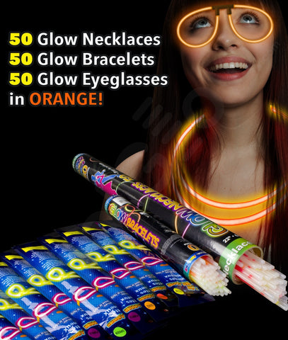 Glow Party Pack for 50 - Orange