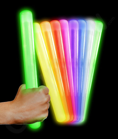 12 Inch Glow Baton - Assorted (12/pack)