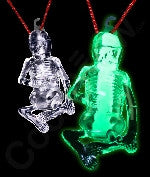 Glow Stick Halloween Skeleton - Green